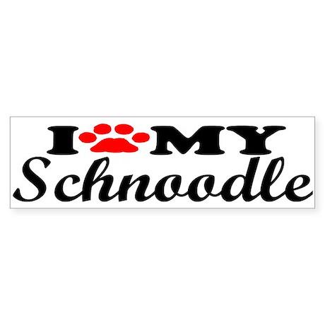 Schnoodle - I Love My Bumper Sticker