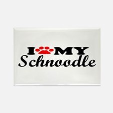 Schnoodle - I Love My Rectangle Magnet