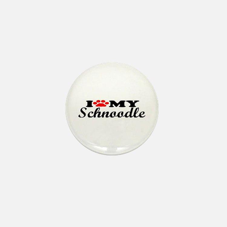 Schnoodle - I Love My Mini Button
