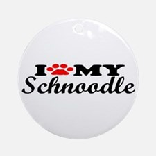 Schnoodle - I Love My Ornament (Round)