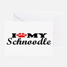 Schnoodle - I Love My Greeting Cards (Pk of 10)