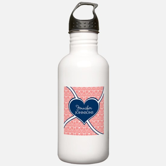 Coral Glasses Pattern Water Bottle