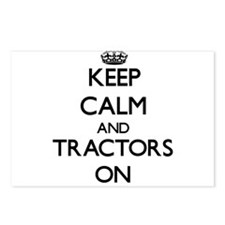 Keep Calm and Tractors ON Postcards (Package of 8)