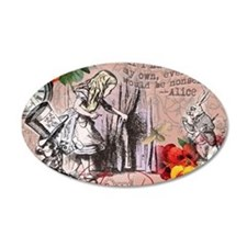 Alice in Wonderland Vintage Adventures Wall Decal