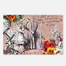 Alice in Wonderland Vintage Adventures Postcards (