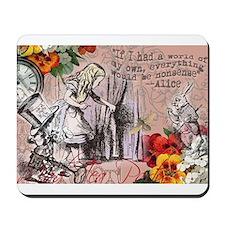 Alice in Wonderland Vintage Adventures Mousepad