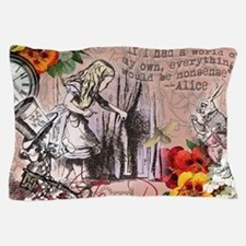 Alice in Wonderland Vintage Adventures Pillow Case