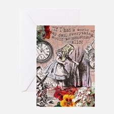 Alice in Wonderland Vintage Adventures Greeting Ca