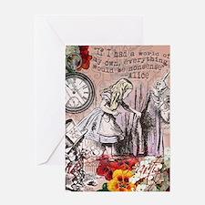Alice in Wonderland Vintage Adventures Greeting Ca