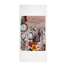 Alice in Wonderland Vintage Adventures Beach Towel