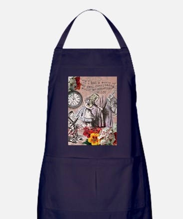 Alice in Wonderland Vintage Adventures Apron (dark