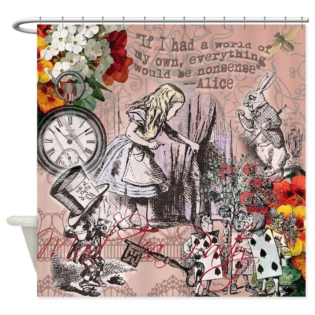 Alice In Wonderland Vintage Adventures Shower Curt By