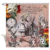 Alice in wonderland tea party Shower Curtains