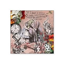 Alice in Wonderland Vintage Adventures Sticker