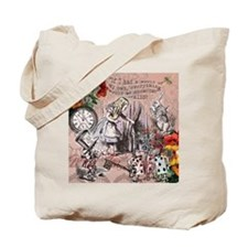 Alice in Wonderland Vintage Adventures Tote Bag