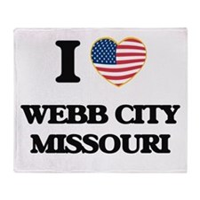 I love Webb City Missouri Throw Blanket