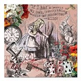Alice in wonderland Square Car Magnets