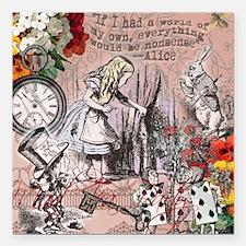 Alice in Wonderland Vintage Adventures Square Car