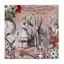 Alice in Wonderland Vintage Adventures Tile Coaste
