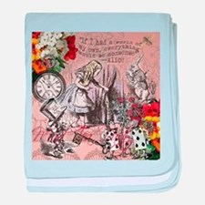 Alice in Wonderland Vintage Adventures baby blanke