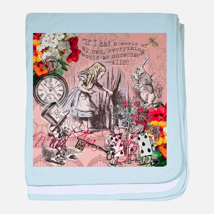 Alice in Wonderland Vintage Adventures baby blanke