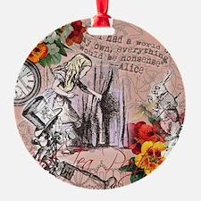 Alice in Wonderland Vintage Adventures Ornament