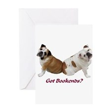 Cute Bookends Greeting Card