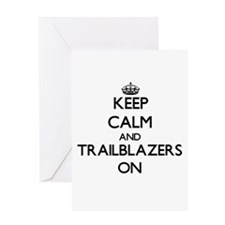 Keep Calm and Trailblazers ON Greeting Cards