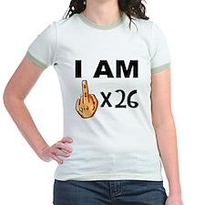 I Am Middle Finger Times 26 T-Shirt
