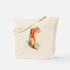 Garden Pinup Beauty Tote Bag