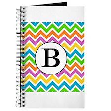 Rainbow Chevron Monogram - B Journal