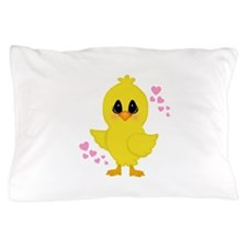 Easter Chick Hearts Pillow Case