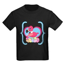 Easter Flamingo Pink Turquoise T-Shirt