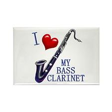 Cute Bass clarinet Rectangle Magnet