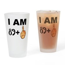 Middle Finger 90th Birthday Drinking Glass