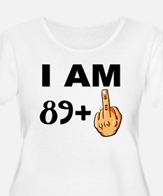 Middle Finger 90th Birthday Plus Size T-Shirt