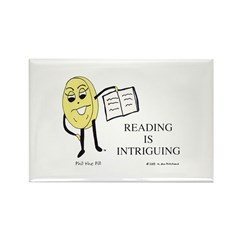Reading Is Intriguing Rectangle Magnet