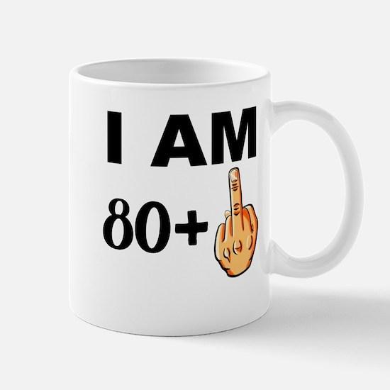 Middle Finger 81st Birthday Mugs