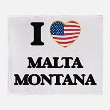 I love Malta Montana Throw Blanket