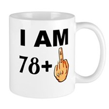 Middle Finger 79th Birthday Mugs