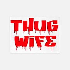 Thug Wife 5'x7'Area Rug