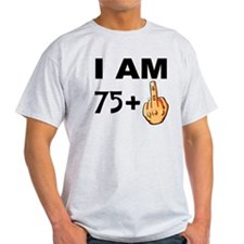 Middle Finger 76th Birthday T-Shirt
