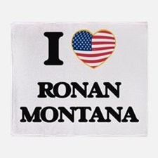 I love Ronan Montana Throw Blanket