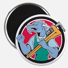 Dragon Plumber Monkey Wrench Fist Pump Cartoon Mag