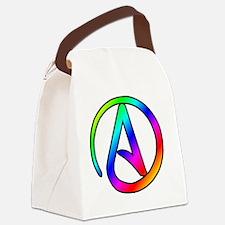 Rainbow Atheist Symbol Canvas Lunch Bag