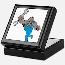 Angry Gorilla Mechanic Spanner Cartoon Isolated Ke
