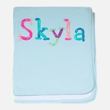 Skyla Princess Balloons baby blanket