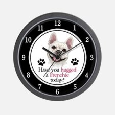 Frenchie Hug Wall Clock