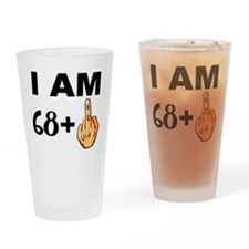 Middle Finger 69th Birthday Drinking Glass