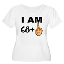 Middle Finger 69th Birthday Plus Size T-Shirt